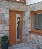 Vchodové dvere s HPL dvernou výplňou GAVA 913a