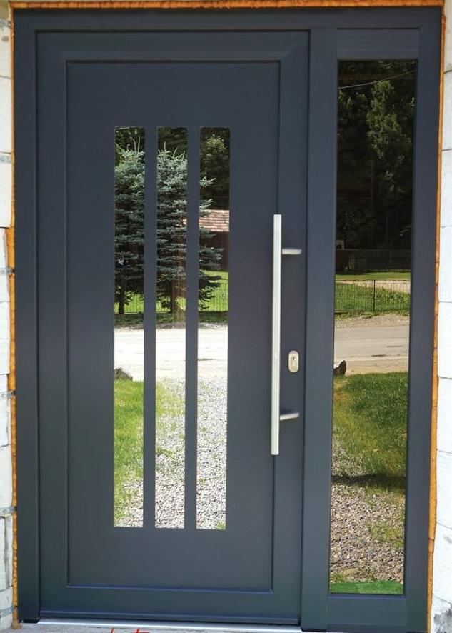 gavaplast_vchodove_dvere - Vchodové dvere s HPL dvernou výplňou GAVA 918