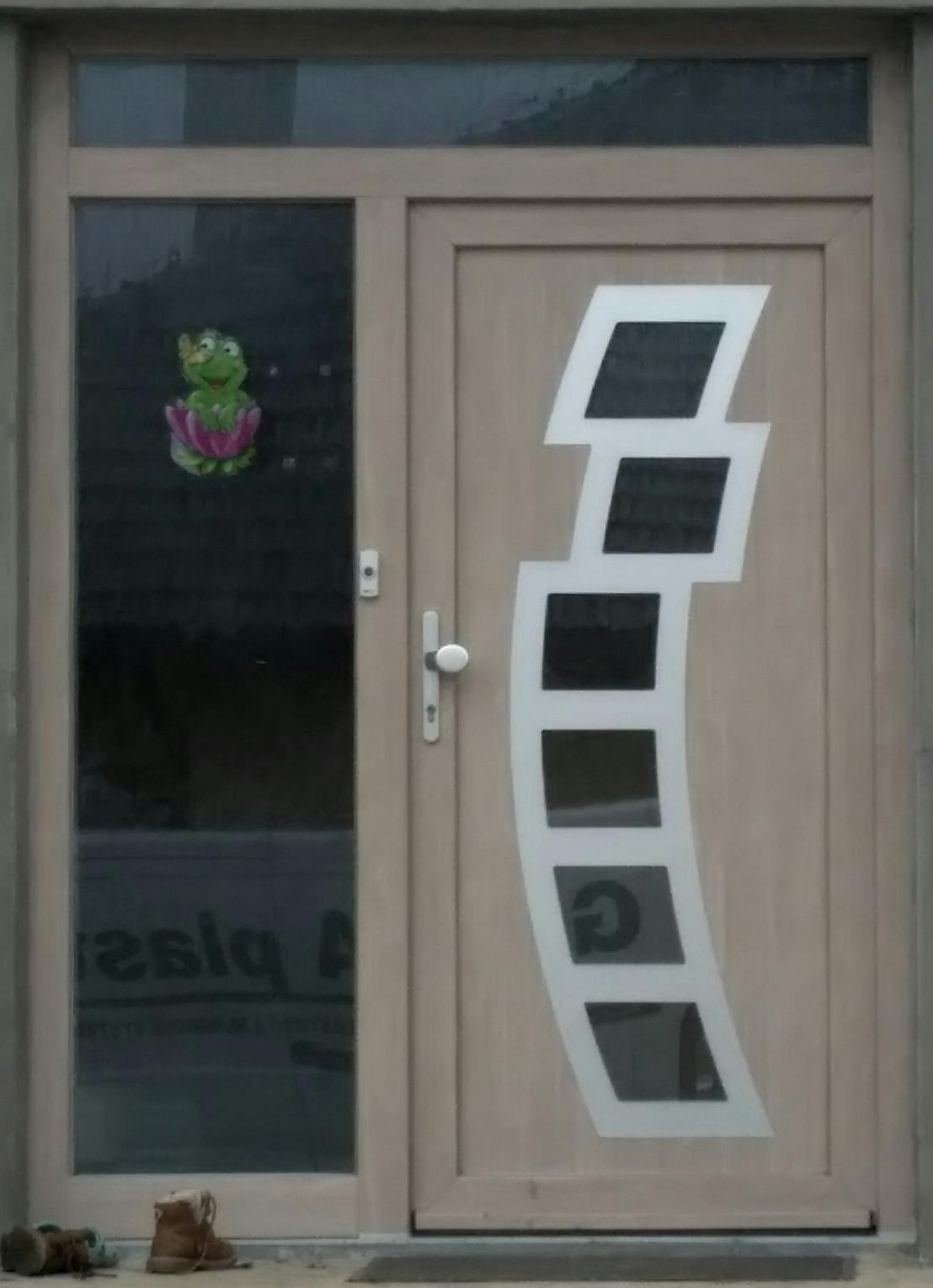 gavaplast_vchodove_dvere - Vchodové dvere s HPL dvernou výplňou GAVA 892
