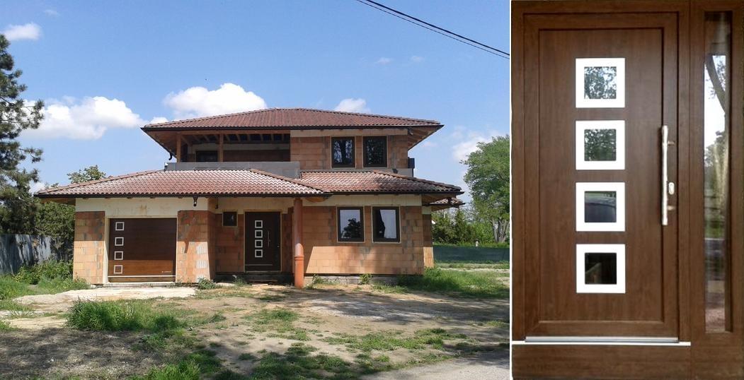 gavaplast_vchodove_dvere - Vchodové dvere s HPL dvernou výplňou GAVA 961a