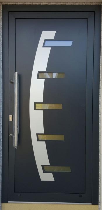 Vchodové dvere s HPL dvernou výplňou - Vchodové dvere s HPL dvernou výplňou GAVA 887