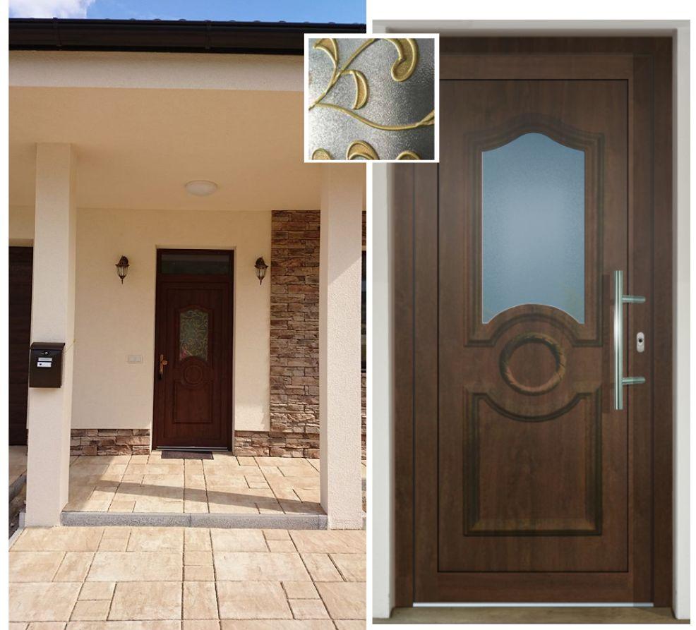 Vchodové dvere - vstup do vášho súkromného sveta - GAVA 041 vitráž Versa