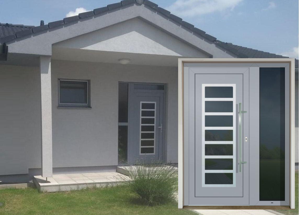 Vchodové dvere - vstup do vášho súkromného sveta - GAVA 702 šedá