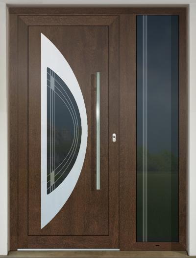 Vchodové dvere GAVA s prísvetlíkom - GAVA 811