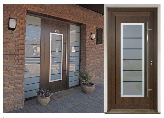 Vchodové dvere - vstup do vášho súkromného sveta - GAVA 701 nussbaum pieskovanie 6P18INV