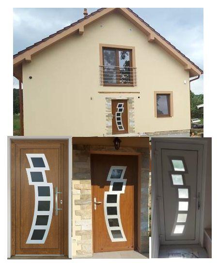 Vchodové dvere - vstup do vášho súkromného sveta - GAVA 892 exteriérový pohľad a pohľad z interiéru domu
