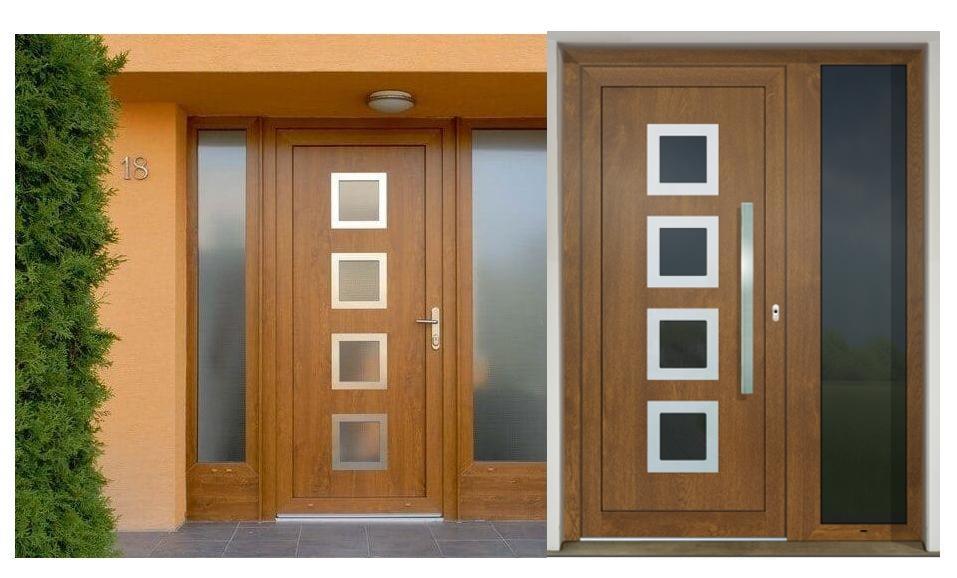 Vchodové dvere - vstup do vášho súkromného sveta - GAVA 961a odtieň zlatý dub