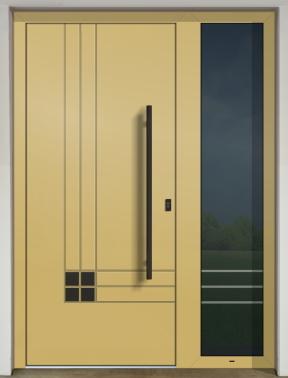 Hliníkové dvere - súčasné farebné trendy - GAVA 560 FD