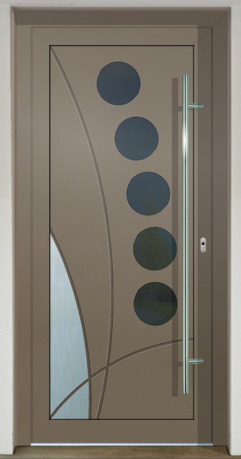 Geometrické tvary na vchodových dverách - GAVA 437b