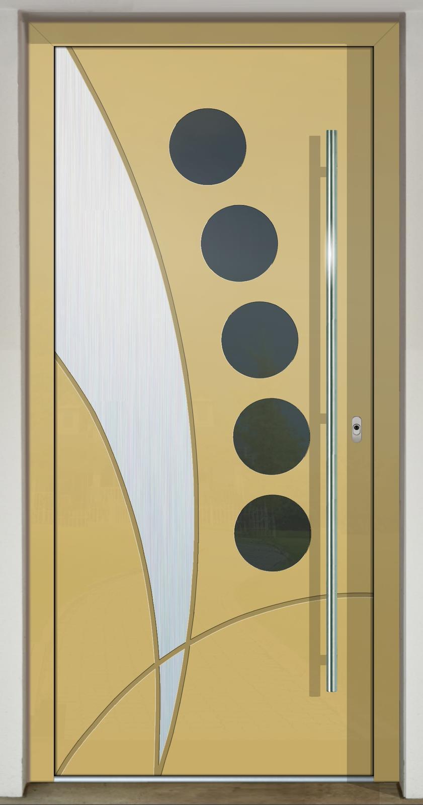 Geometrické tvary na vchodových dverách - GAVA 437c
