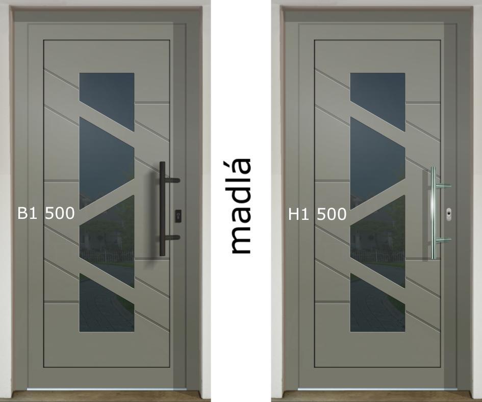 Zaujíma Vás ako vyzerajú rôzne madlá na jednej dvernej výplni (GAVA 568)❓ - madlo B1 500 a H1 500