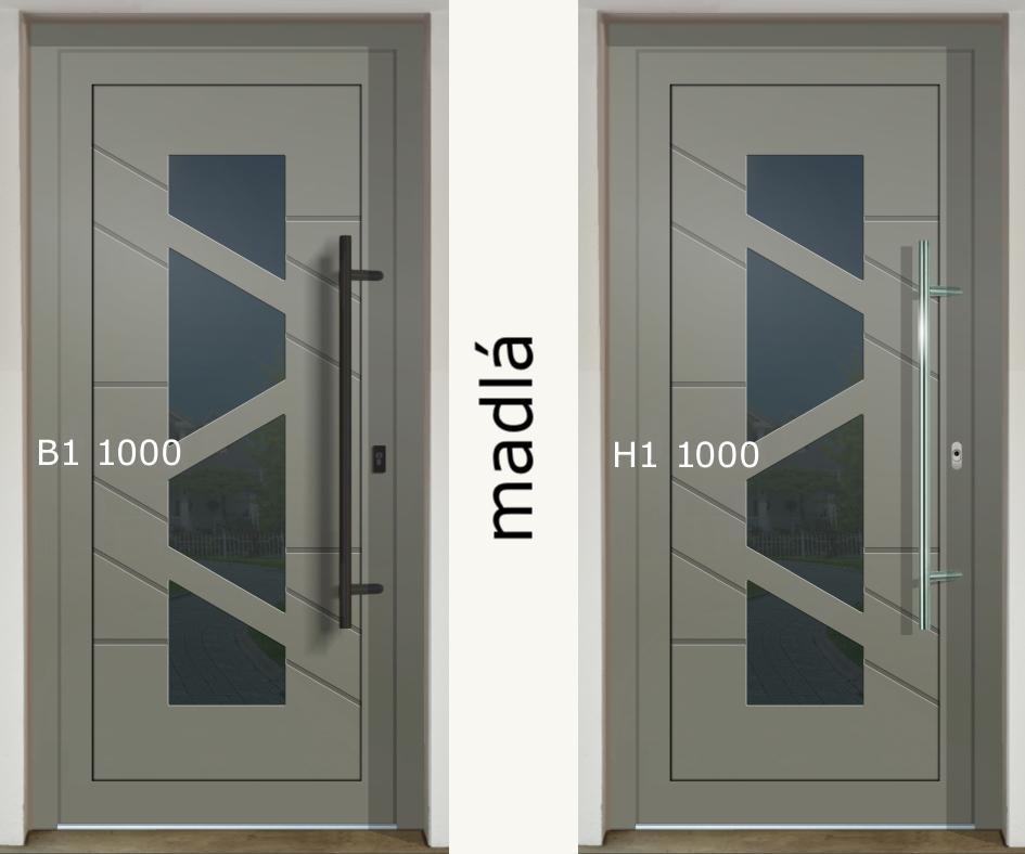 Zaujíma Vás ako vyzerajú rôzne madlá na jednej dvernej výplni (GAVA 568)❓ - madlo B1 1000 a H1 1000