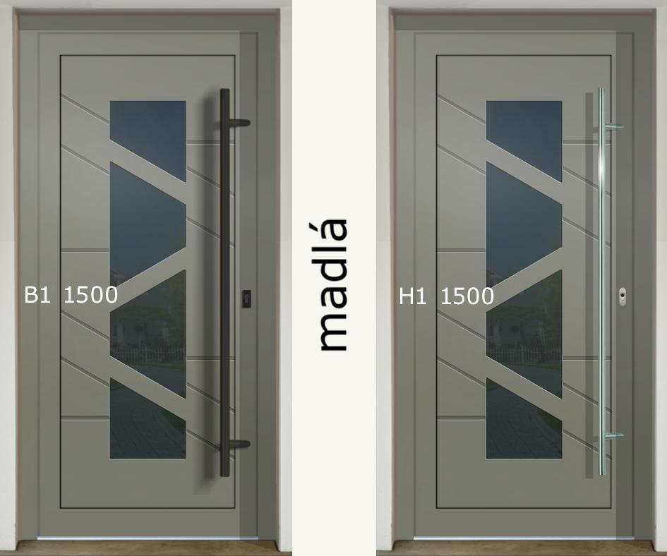 Zaujíma Vás ako vyzerajú rôzne madlá na jednej dvernej výplni (GAVA 568)❓ - madlo B1 1500 a H1 1500