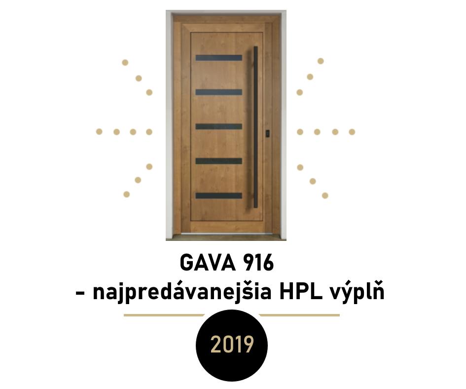 Najpredávanejšie dverné výplne v roku 2019 - najpredávanejšia dverná výplň za rok 2019 - GAVA 916
