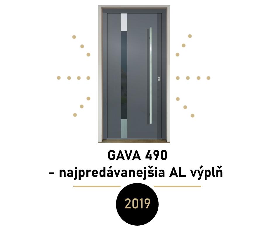 Najpredávanejšie dverné výplne v roku 2019 - najpredávanejšia dverná výplň za rok 2019 - GAVA 490