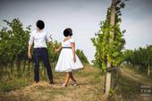 Jednoduché bavlněné svatební šaty, 40