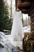 Ivory svatební šaty s výstřihem na zádech, 44