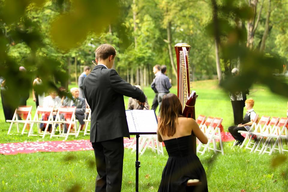 harfistka_simona - Svatba 3.9.2016 - Zámecká zahrada