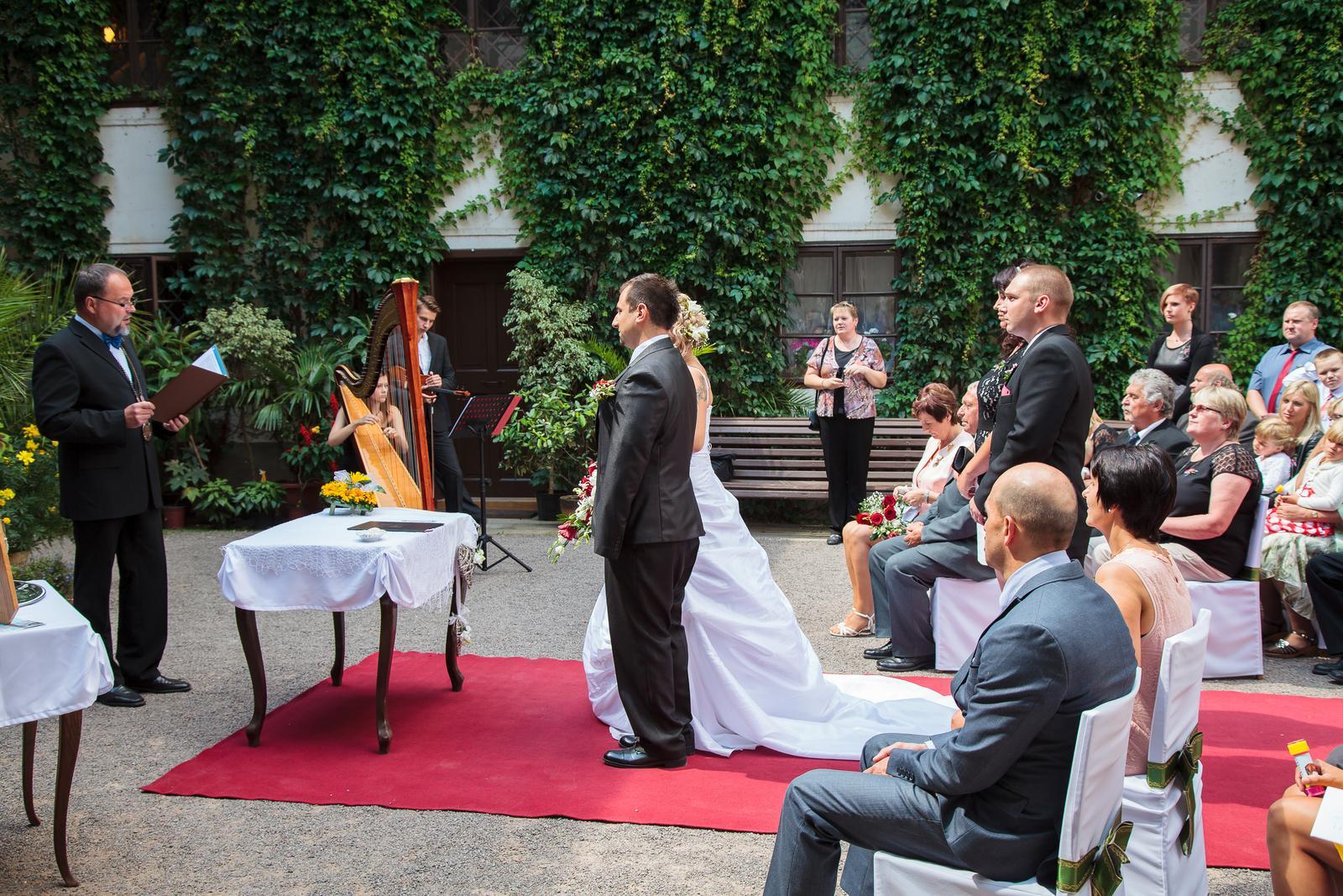 harfistka_simona - Svatba 6.8.2016 - Zámek Slatiňany