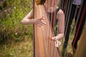 Hudba k obřadu - harfa,