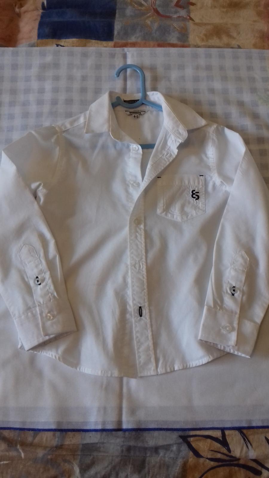 Svadobná biela košeľa s dlhým rukávom  - Obrázok č. 2