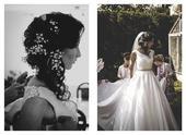 hladké, elegantné a romantické svadobné šaty, 38