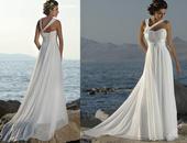 Nepoužité svatební šaty - styl Antik, 40