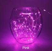 Led světelný řetěz 2 m - 20 led růžový,