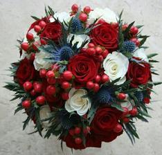Takhle nějak snad bude vypadat svatební kytice