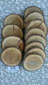 Dřevěná kolečka/podnosy/podtácky - dub,lak,20cm,