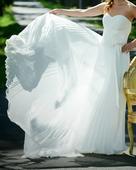 Lehounké šifonové svatební šaty, 34