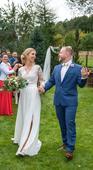 Svatební šaty s krajkovými rukávy, 34