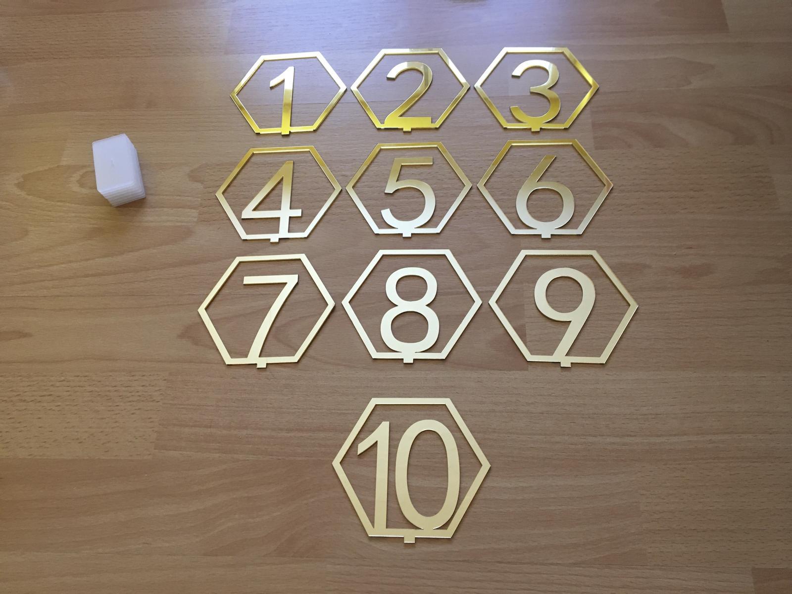 Čísla stolov - Obrázok č. 1