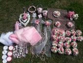 Svatební výzdoba růžovobílá,