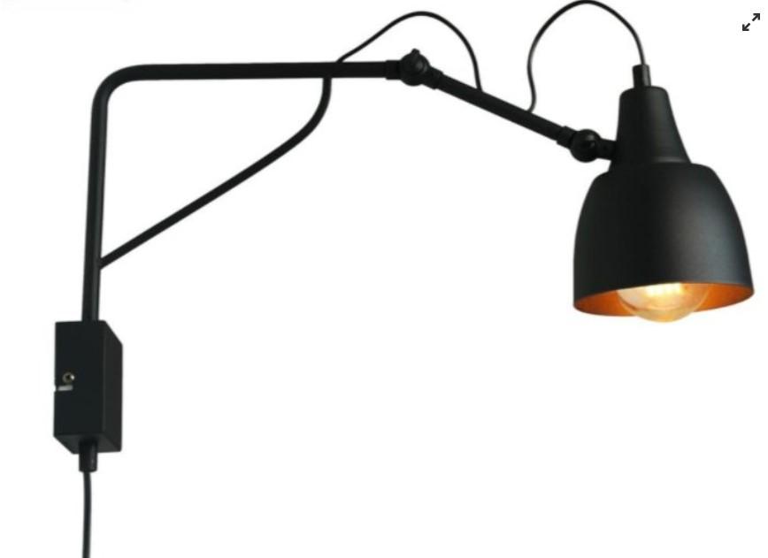 Nástenná dizajnová lampa nová len rozbalená - Obrázok č. 1