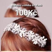 Svatební ozdoba do vlasů 100 Kč 9808d62644