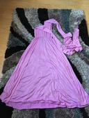 Fialové šaty na svatbu/pro družičku, M