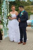 Korzetové svatební šaty velikosti 38-42, 38