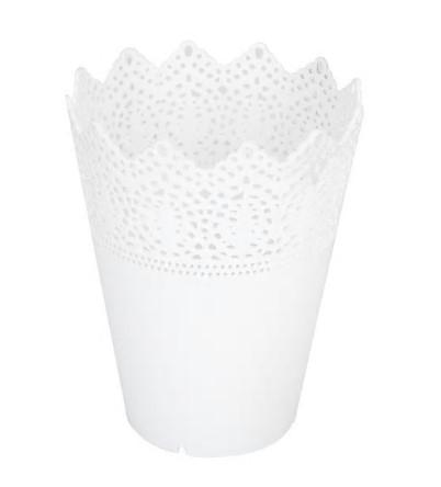 Biele kvetináče v provenskálskom štýle - Obrázok č. 1