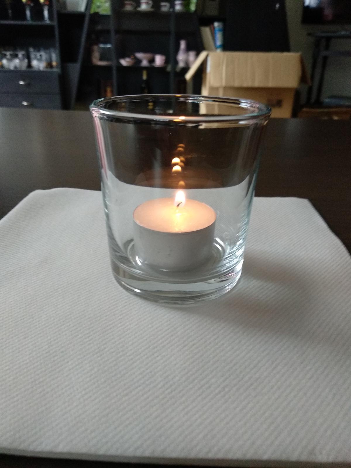 Svietniky sklenene - Obrázok č. 1