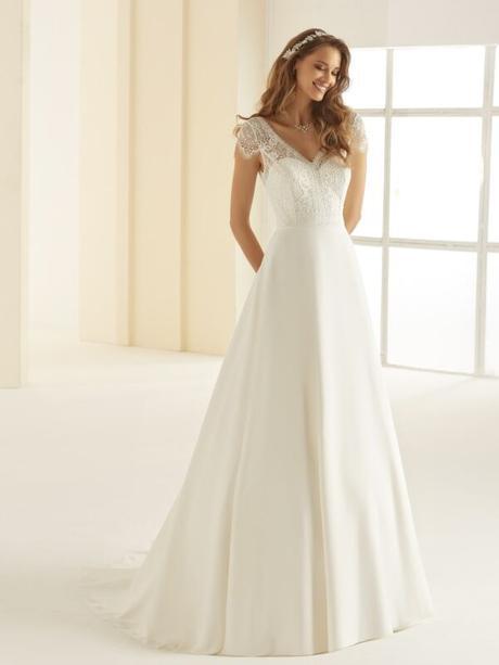 Jednoduché svadobné šaty Bianco Evento Natalie - Obrázok č. 1