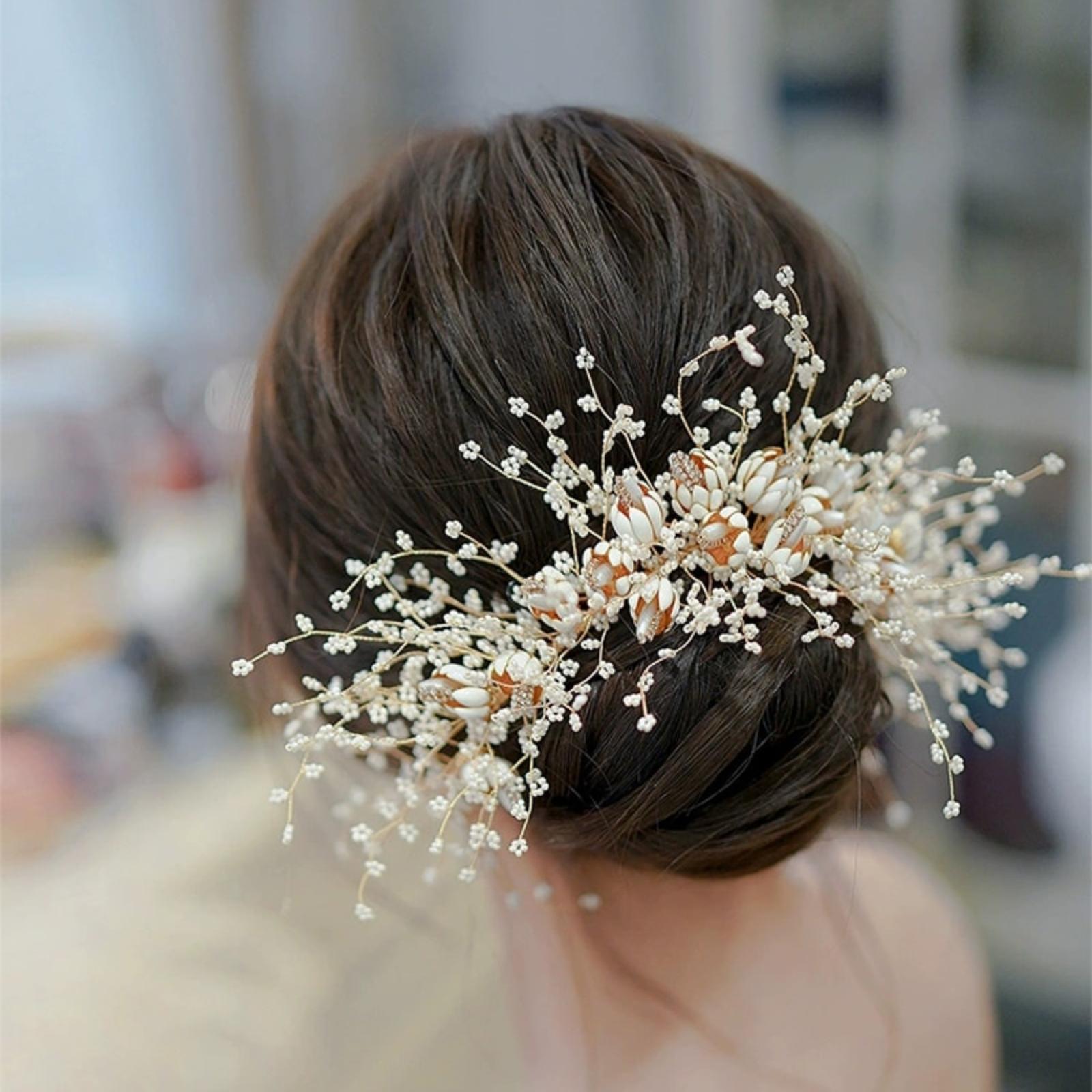 Nádherná kvetinová ozdoba do vlasov - Obrázok č. 4