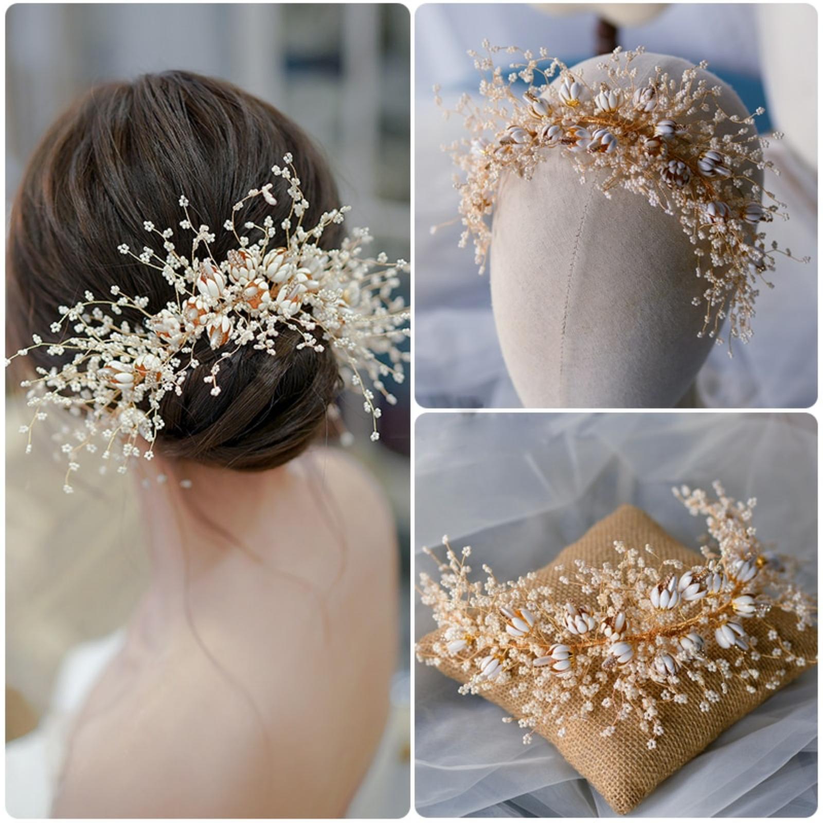 Nádherná kvetinová ozdoba do vlasov - Obrázok č. 1