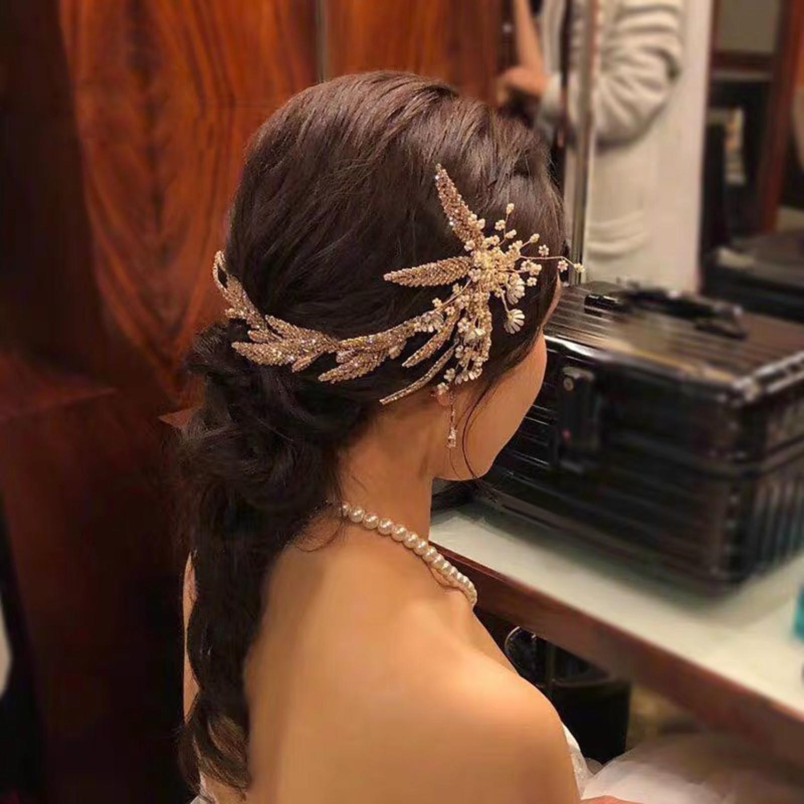 Soft Flower štrasová ozdoba do vlasov+náušnice - Obrázok č. 1