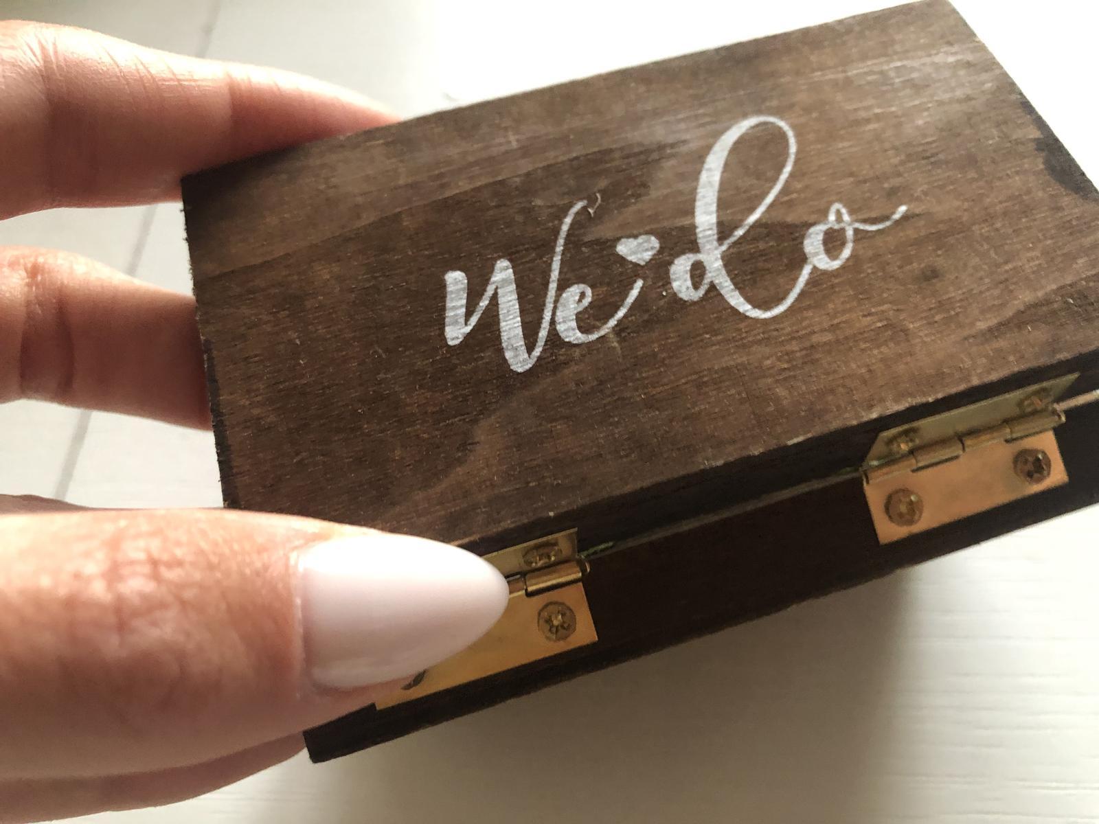 Dřevěná krabička na prstýnky 👰♀️💍🤵♂️ - Obrázek č. 1