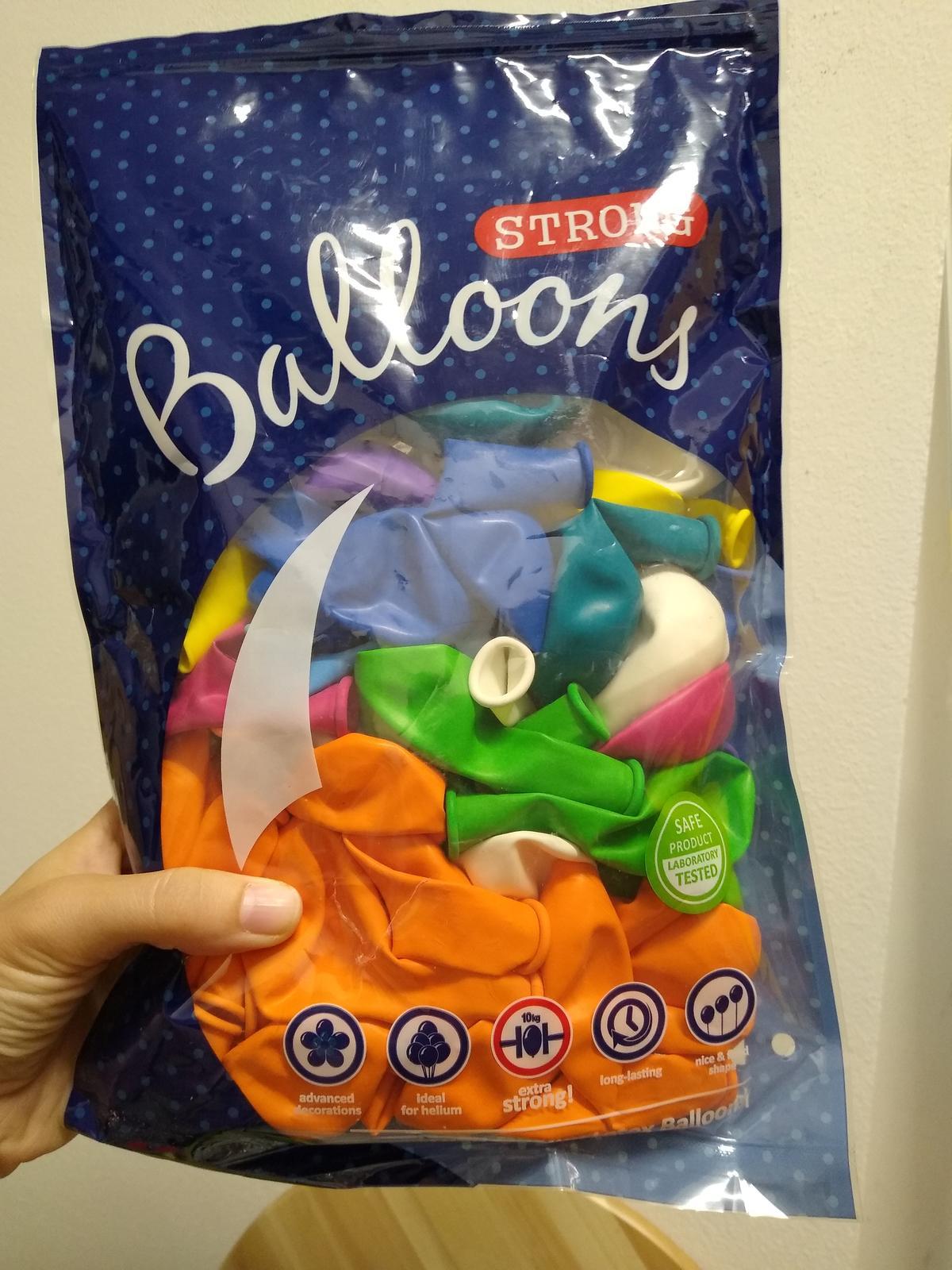 Balónky různé barvy nové nepoužité 61 ks - Obrázek č. 1