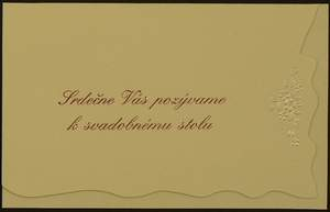 Martinka + Stanko  06.06.2009 - Naša pozvánka k svadobnému stolu.