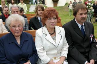 Moja stará mama a rodičia.