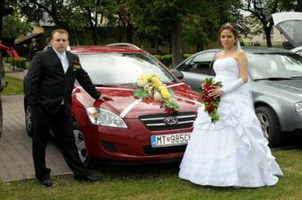 Svadobné autíčko.
