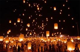 Lanterns for evening- letajici prani na vecer
